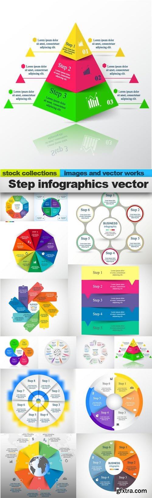 Step infographics vector, 14 x EPS