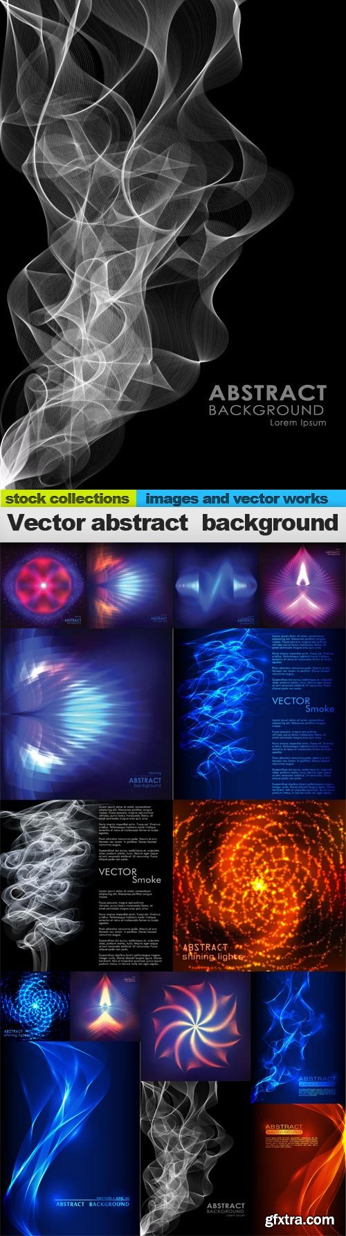 Vector abstract background, 15 x EPS
