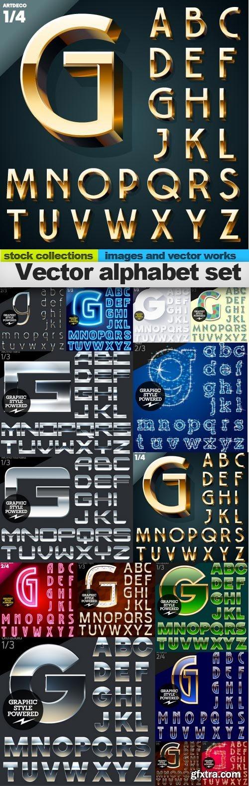 Vector alphabet set, 15 x EPS