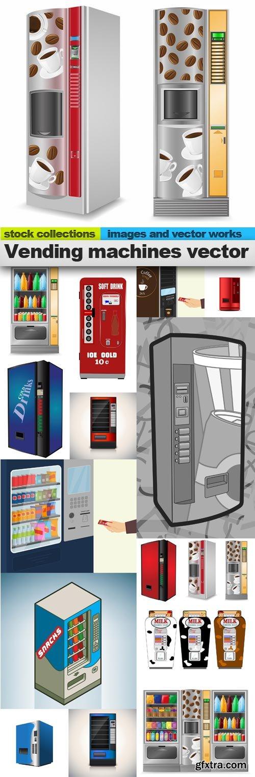 Vending machines vector, 15 x EPS