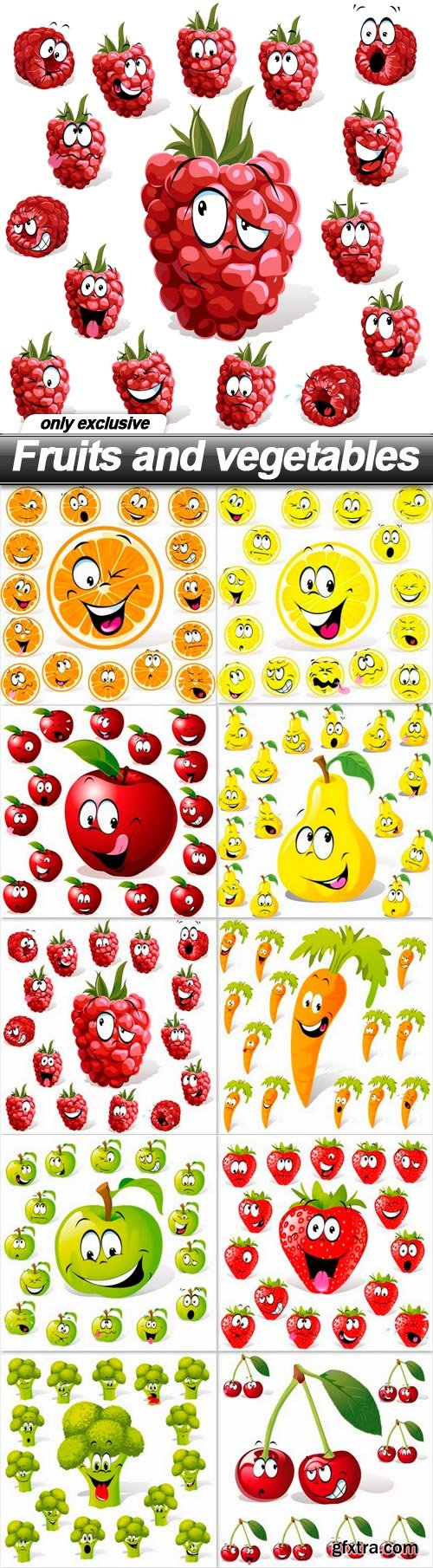 Fruits and vegetables - 10 EPS