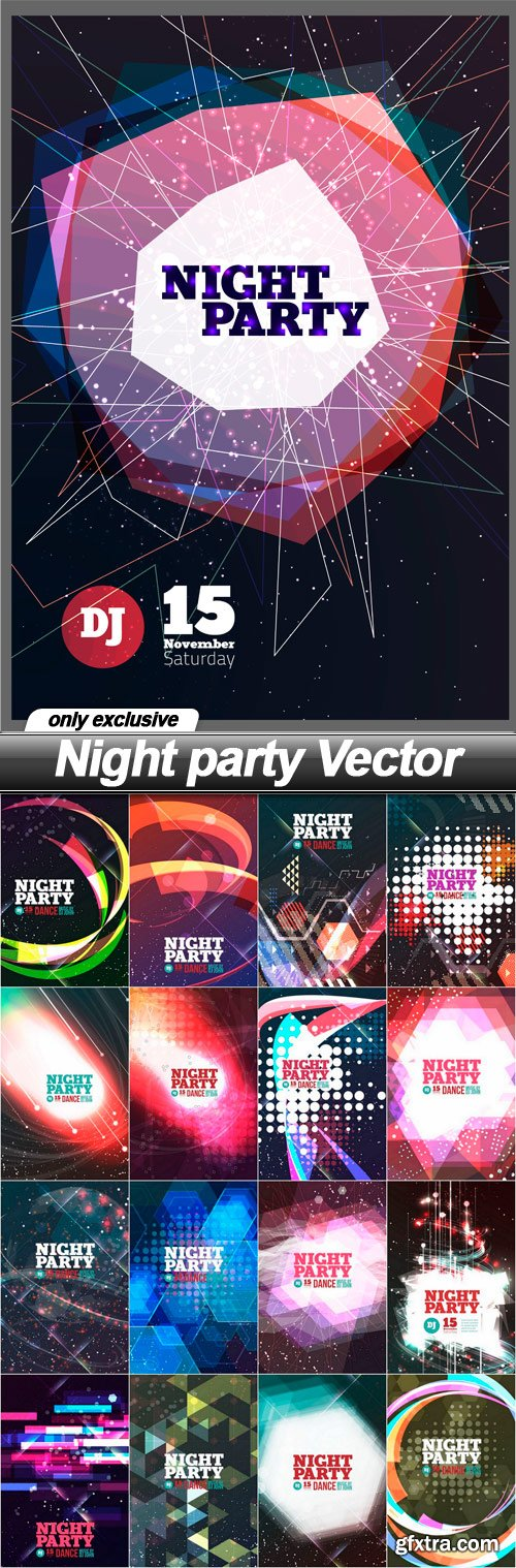 Night party Vector - 17 EPS