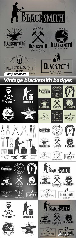 Vintage blacksmith badges - 8 EPS