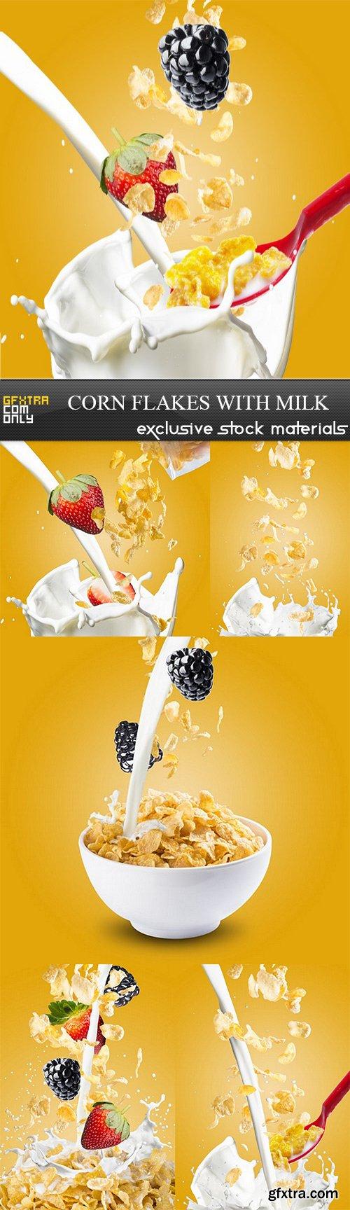 Corn Flakes with Milk - 6 UHQ JPEG