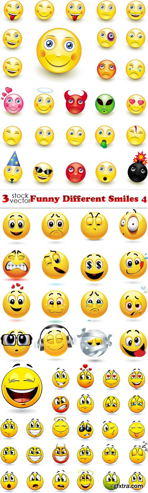 Vectors - Funny Different Smiles 4