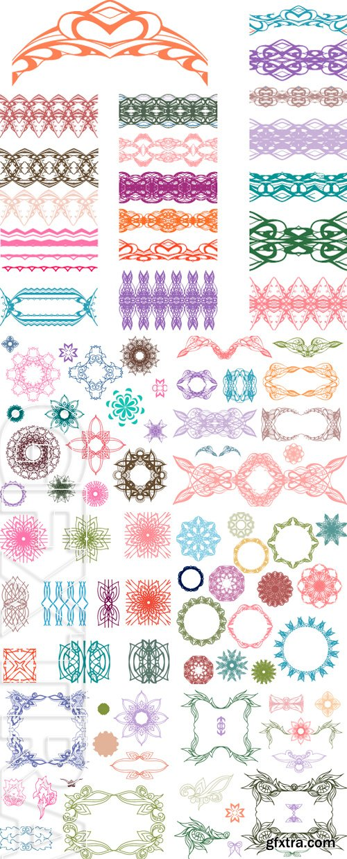 Stock Vectors - Set of colorful design elements Doodle hand drawn, vector illustration
