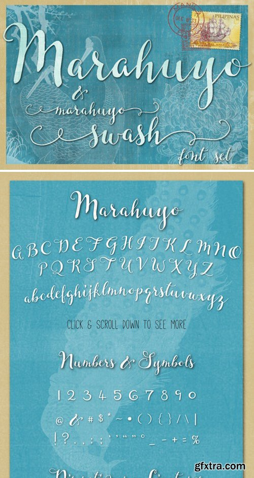 CM - Marahuyo Font Family Set 333436
