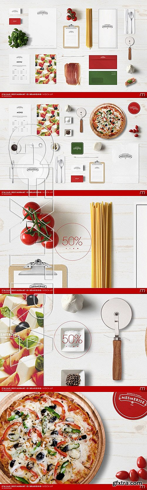 CM - Italian Restaurant Identity Mock-up 333380