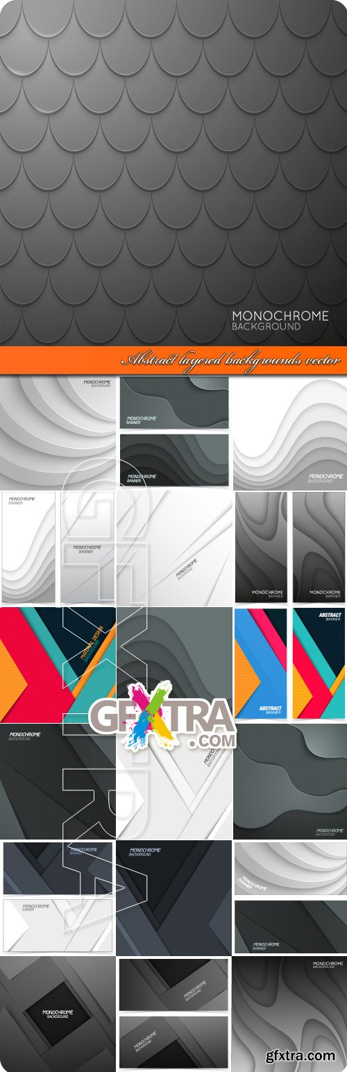 Abstract layered backgrounds vector