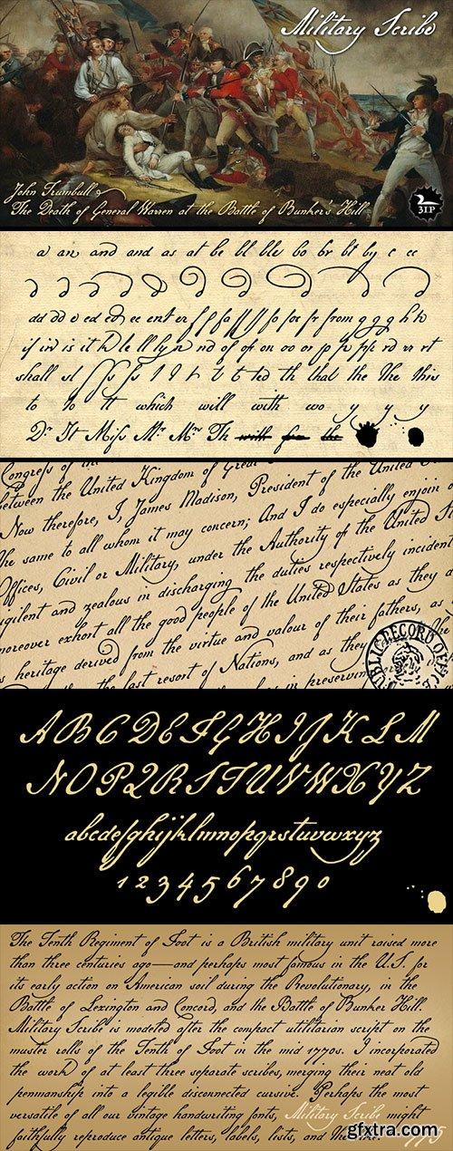 Military Scrib - 18th Century Antique Script NEW!
