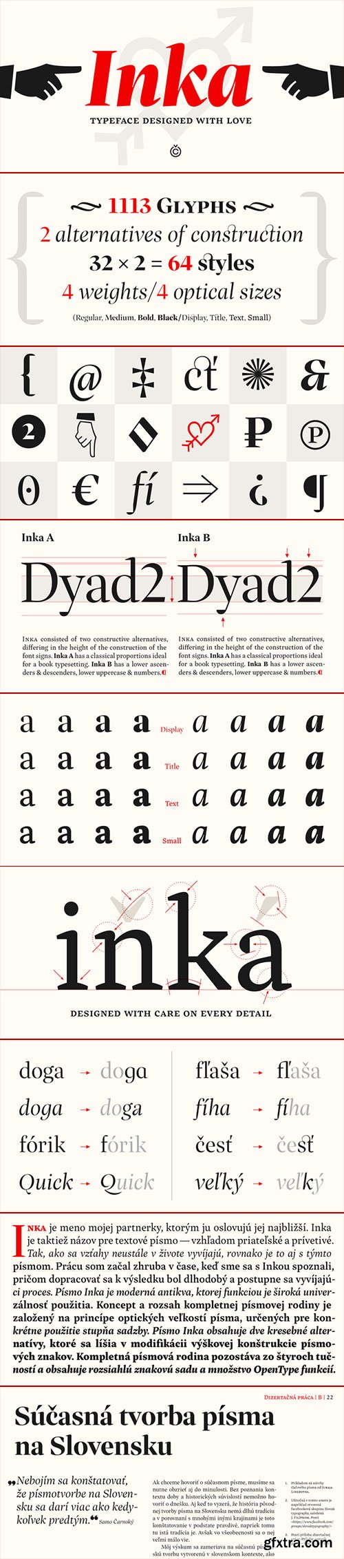 Inka - Typeface Designed by Love 64xOTF $686 NEW!