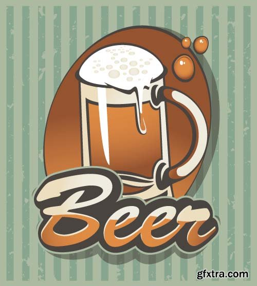 Beer Labels Stickers 11x EPS
