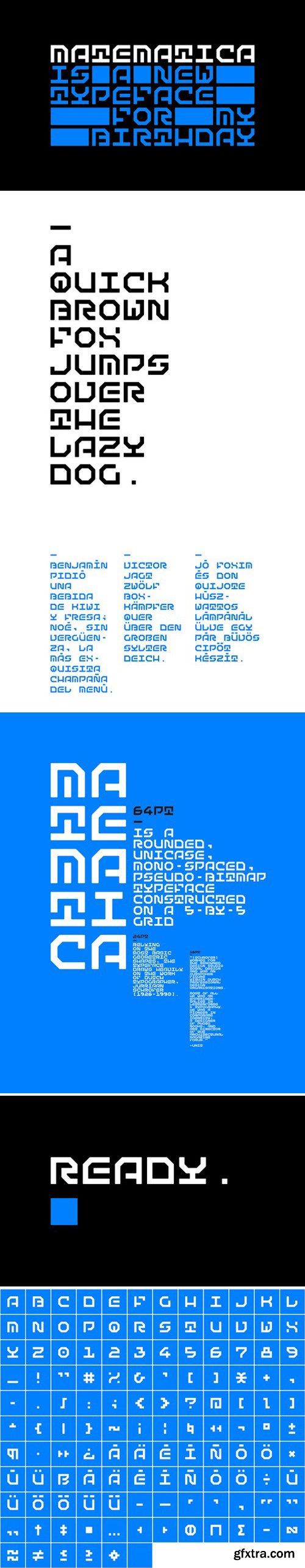 Matematica font