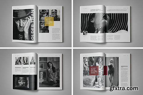 CreativeMarket Indesign Magazine Template #3 333399