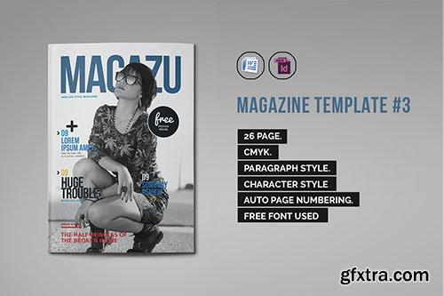CreativeMarket Indesign Magazine Template #3 333399