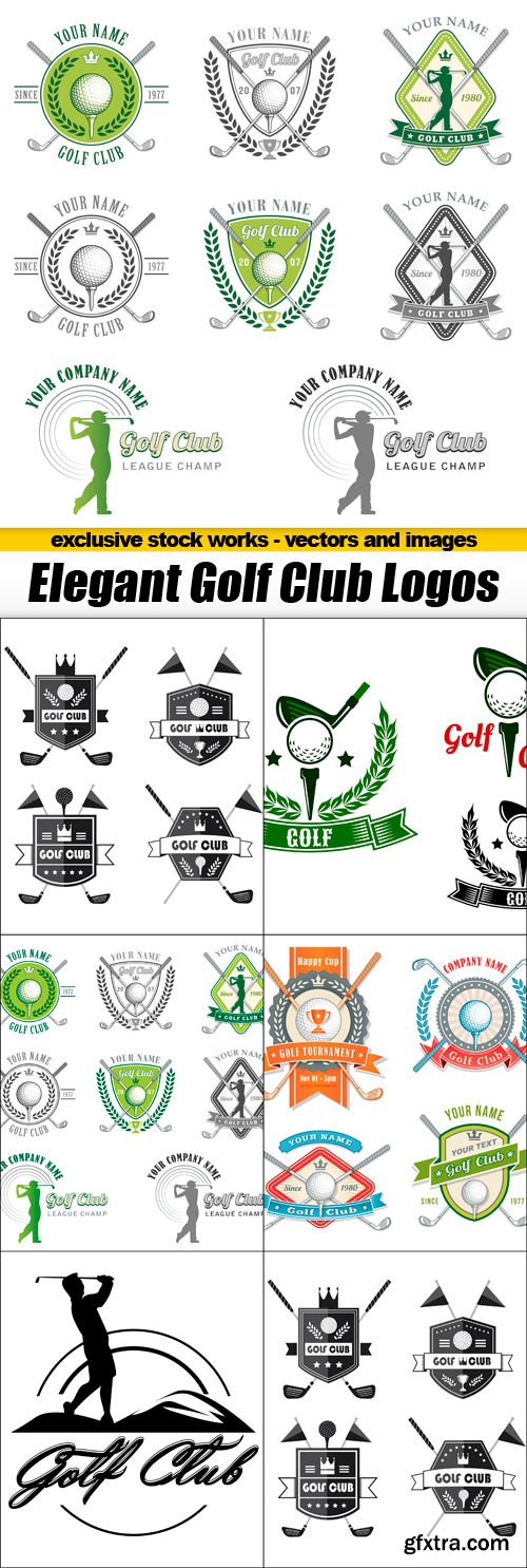 Golf Club Elegant Logos - 5 EPS