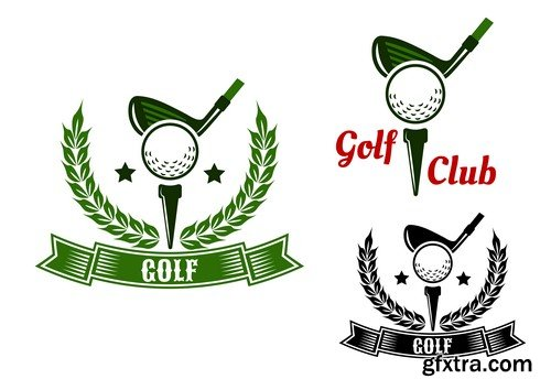 Golf Club Elegant Logos - 5 EPS
