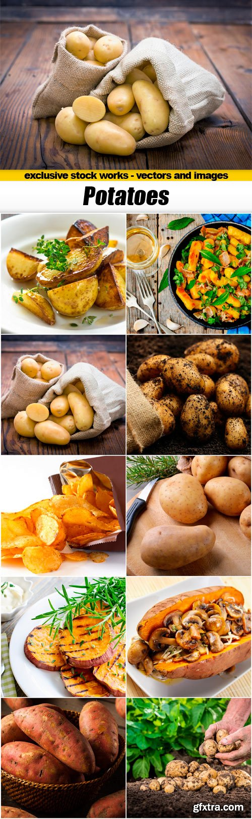 Potatoes - 10x JPEGs