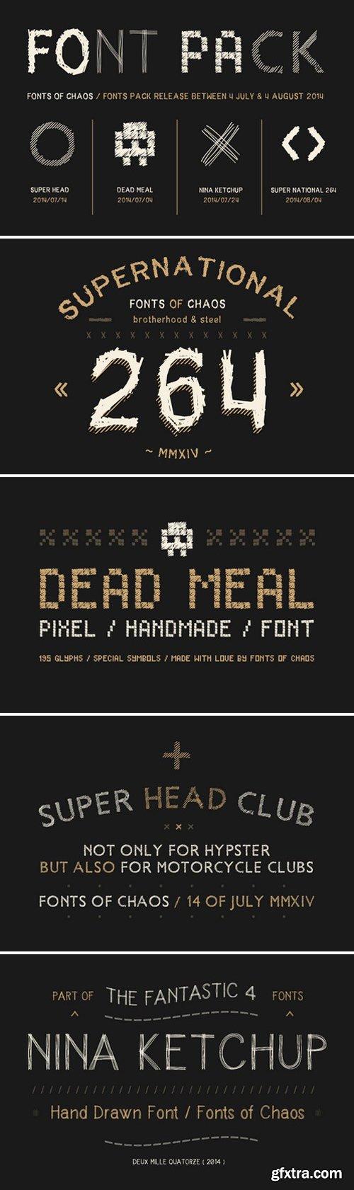 CM - The Fantastic 4 Fonts - Pack. 55280