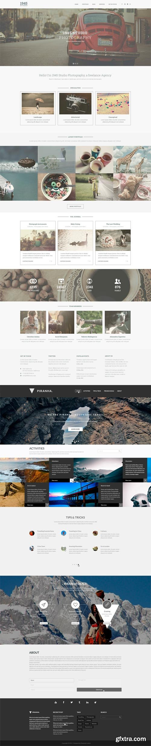 CM 102279 - BUNDLE - Clean PSD Website Template