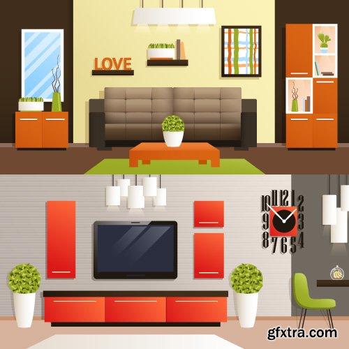 Templates banner flat design concept vector 22