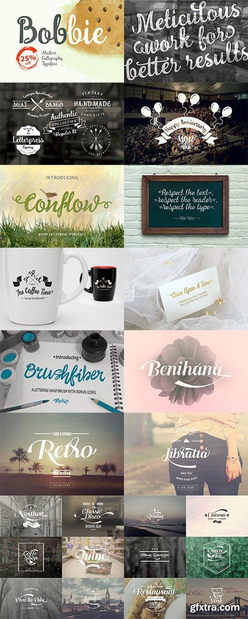 10 Dollar Bundle vol.4 – 16 Custom Fonts!
