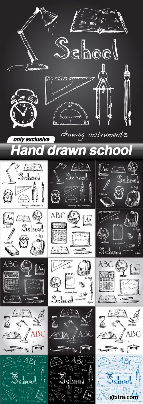 Hand drawn school - 15 EPS