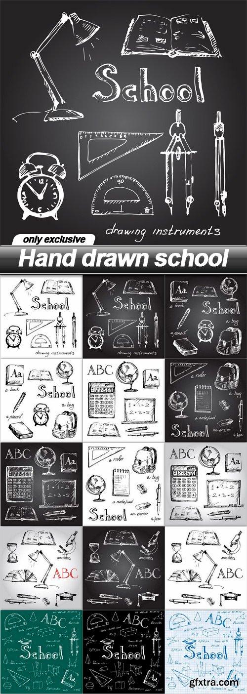 Hand drawn school - 15 EPS