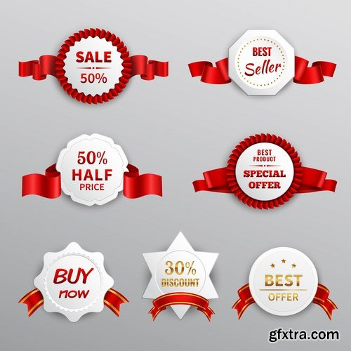 Origami Sale Labels - 10 EPS