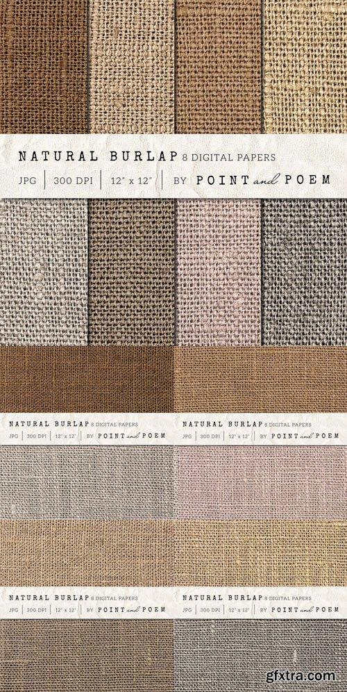 Burlap Textured Digital Paper - CM 142262