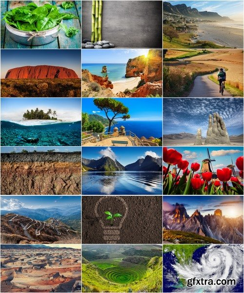 Collection of various nature still life landscape moon sea sunset field grass mountain town 25 HQ Jpeg