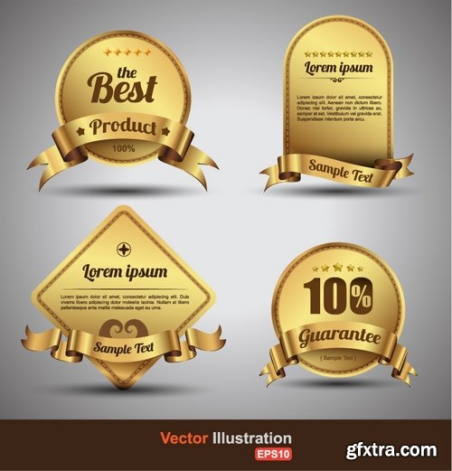 Collection of vector image label on various subjects #2-25 Eps