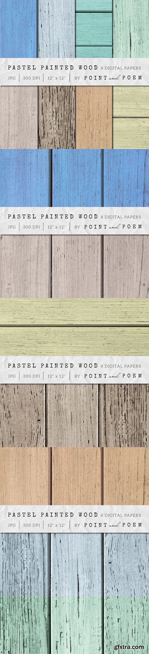 Wood Texture - Painted Pastel Wood - CM 107708