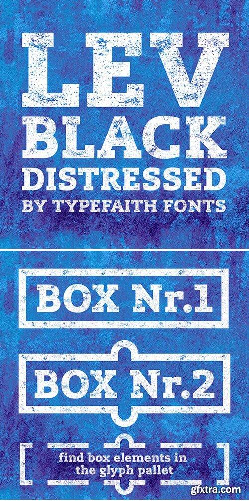 Lev Black Distressed