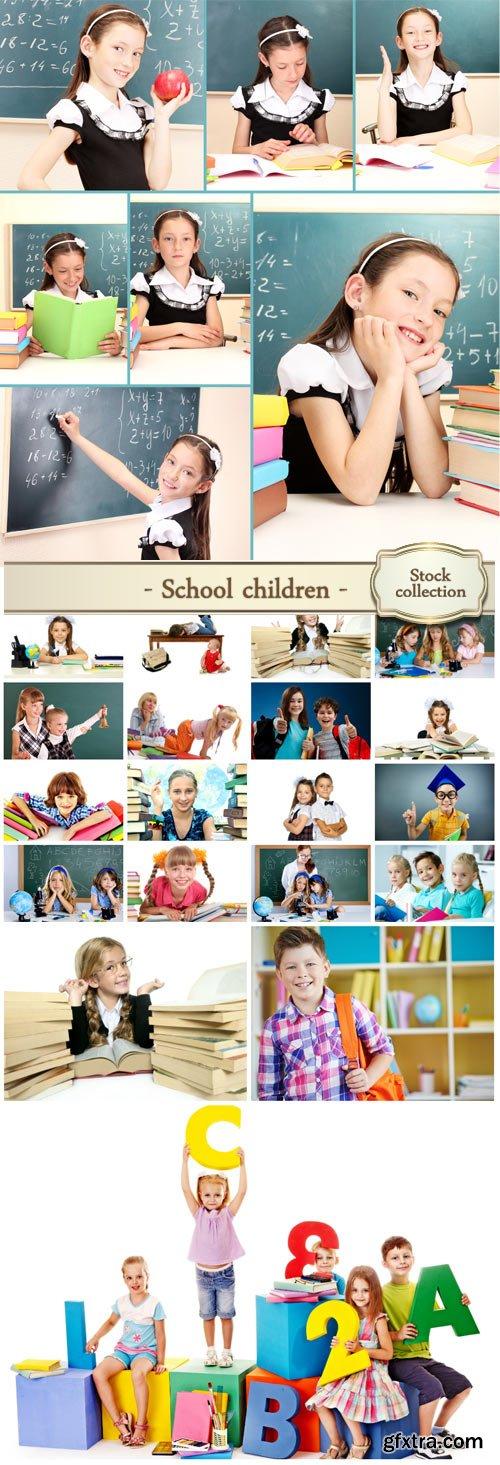 School Children, Children with Books 25xJPG
