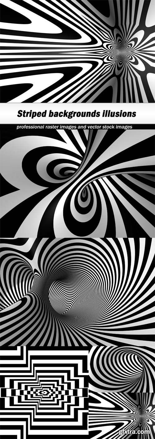 Striped backgrounds illusions