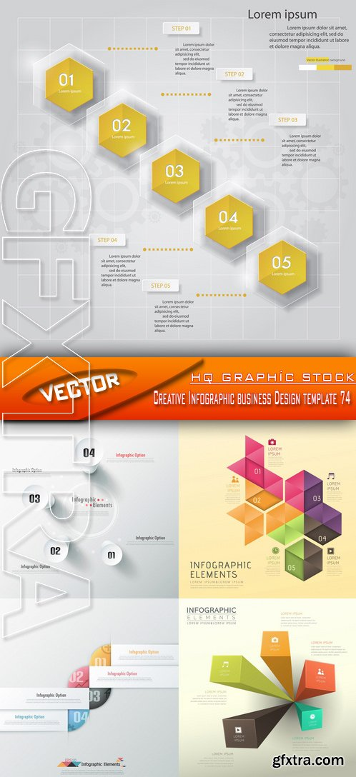 Stock Vector - Creative Infographic business Design template 74