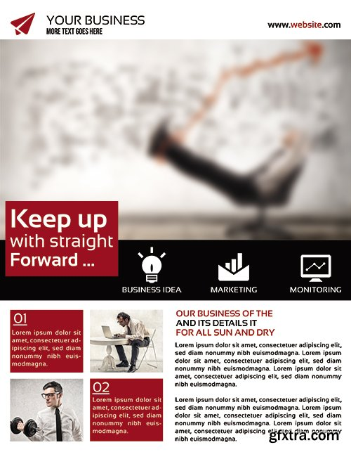 Business Flyer Flyer PSD Template + Facebook Cover