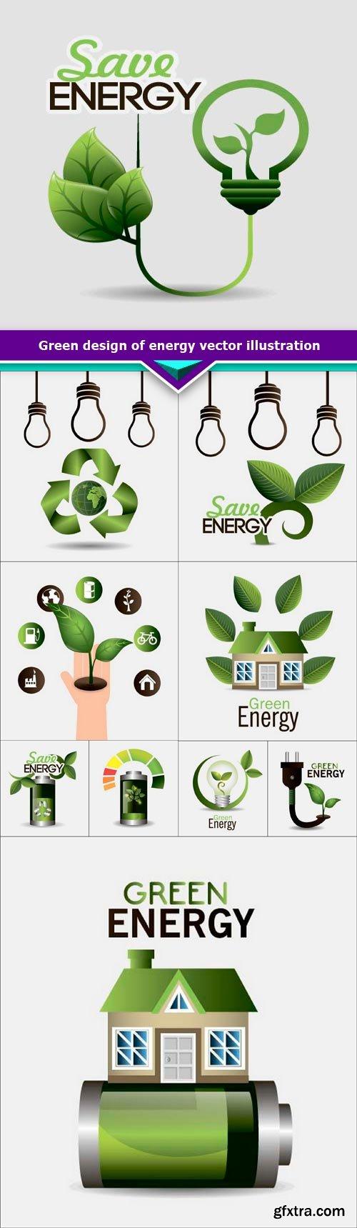 Green design of energy vector illustration 10x EPS