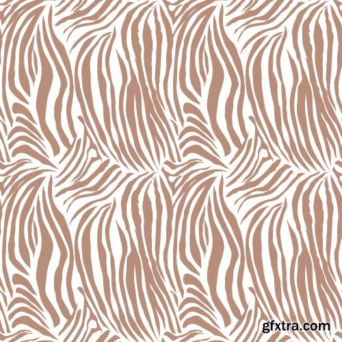 Zebra leopard & tiger fur seamless vector for printing 15x EPS