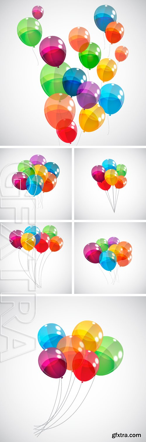Stock Vectors - Color Glossy Balloons Background Vector Illustration