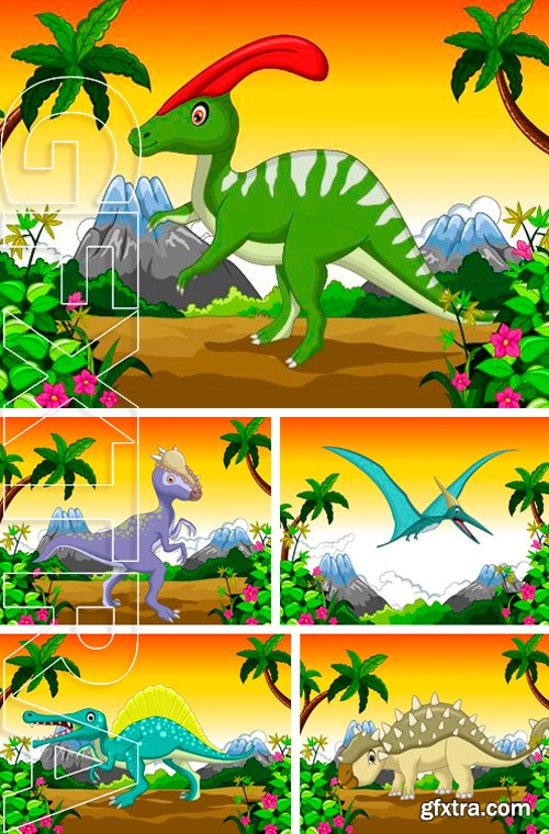 Stock Vectors - Dinosaur cartoon for your design