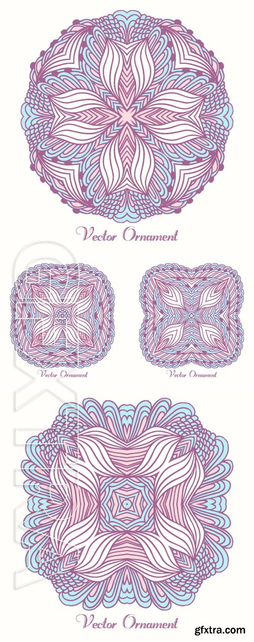 Stock Vectors - Hand drawn textile ornament. Geometrical ethnic pattern for your design. Vector illustration