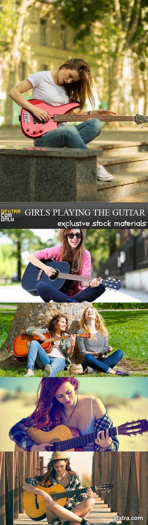 Girls Playing The Guitar