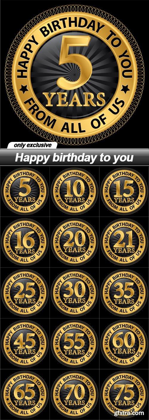 Happy birthday to you - 15 EPS