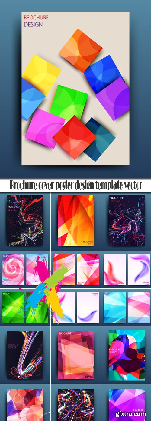 Brochure cover poster design template vector
