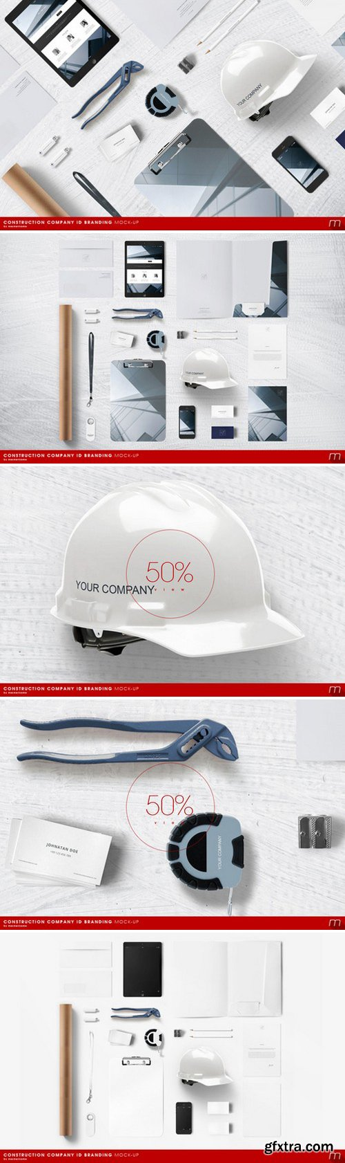 CM - Construction Company Branding Mock-up 335573