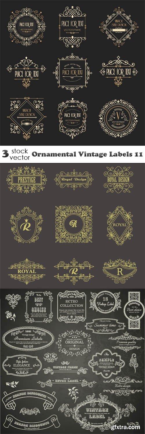 Vectors - Ornamental Vintage Labels 11