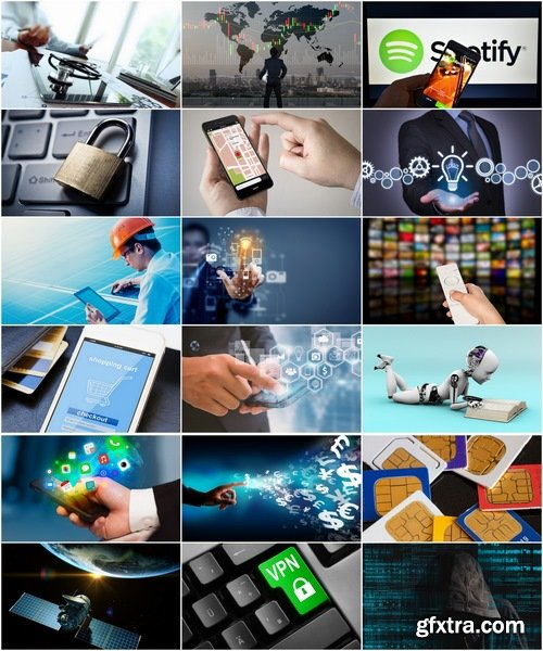 Collection of high-tech technology concept businessman business business idea 25 HQ Jpeg