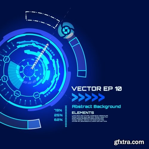 Collection of vector web design elements picture background business infographics #3-25 Eps